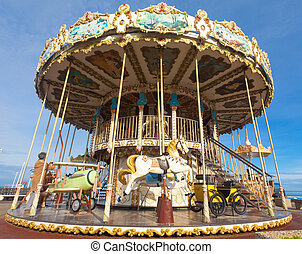 Carousel - merry-go-round - Carousel - Merry-go-round in the...