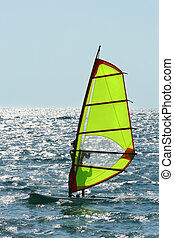 Windsurfer enjoying sea wind