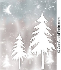 Christmas tree abstract background