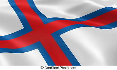 Faroese flag in the wind