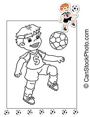 coloring book of the works - soccer