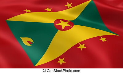 Grenadian flag in the wind Part of a series