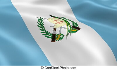 Guatemalan flag in the wind. Part of a series.