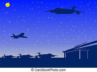 Night airport