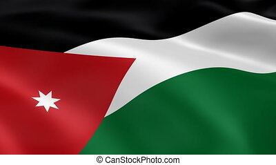 Jordanian flag in the wind