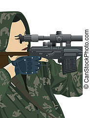 Sniper and sniper scope