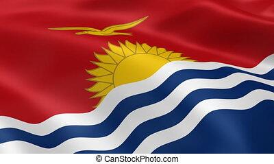 Kiribati flag in the wind - I-Kiribati flag in the wind Part...