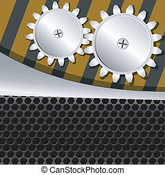 Vector illustration  of metal background with gears