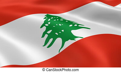 Lebanese flag in the wind Part of a series