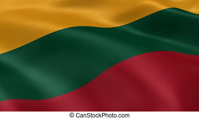 Lithuanian flag in the wind Part of a series