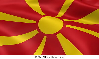 Macedonian flag in the wind. Part of a series.