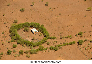 African compound - Small homestead in northern Tanzania near...