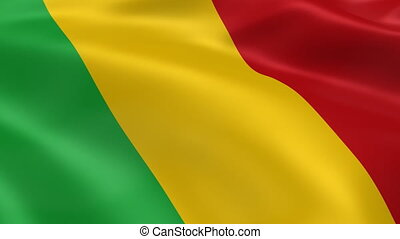 Malian flag in the wind. Part of a series.