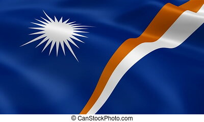 Marshallese flag in the wind. Part of a series.