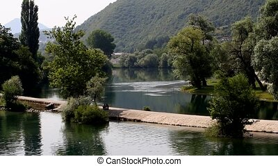 Una river, Bihac, Bosnia and Herzegovina