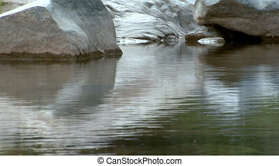 Creek background fish jump - Multiple trout jump from a...