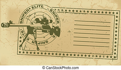 Army post stamp - The vector image of color Army post stamp