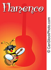 Spanish bees with flamenco guitar