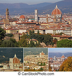 collage with Basilica di Santa Maria del Fiore, the...
