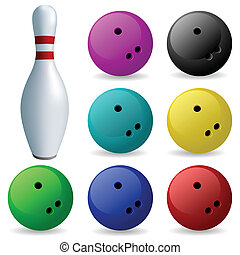 Set of balls. Bowling