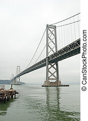 Suspension Oakland Bay Bridge in San Francisco to Yerba Buena