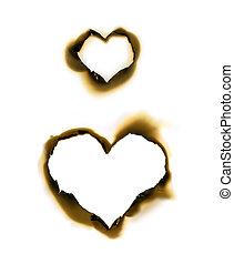 Heart shape parchment - Sheet of parchment with heart shape...