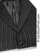 suit jacket - closeup of a folded suit jacket on a white...