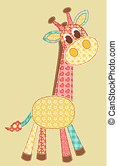 giraffe_application20jpg - Childrens application Giraffe...