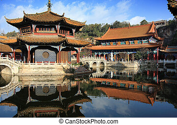 Ancient Chinese Architecture - In the courtyard of an old...
