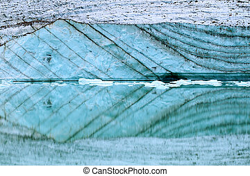 Angel Glacier Meltwater - Canada - Glacial meltwater from...
