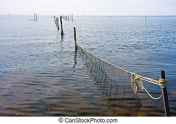 Fishing nets in the Durch sea