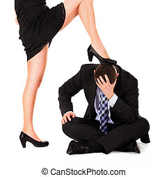 Female dominance - A picture of a sexy woman dominating a...