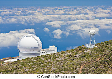 Telescopes at the highest peak of La Palma
