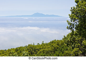 View at Tenerife from La Palma, Canary Islands