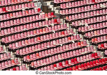 Tribune of a big Soccer stadium