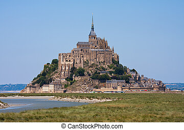 Saint Mont Michel, medieval abbey in France - Saint Mont...