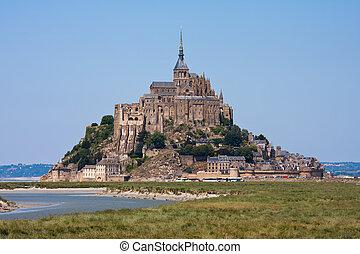 Saint Mont Michel, medieval abbey in France - Saint Mont...