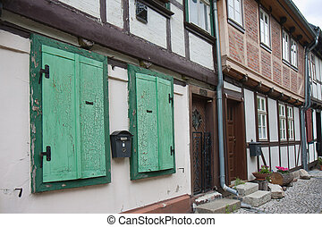 Streetview of an old German medieval city - Streetview of an...
