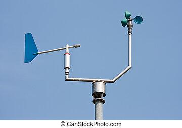 anemómetro, medición, viento, velocidad,...
