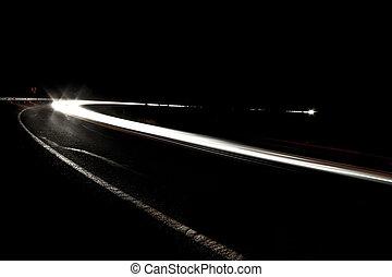山, アリゾナ, ライト, 自動車, 砂漠, 風景, 州連帯