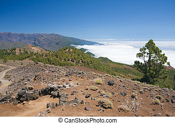 Volcanic landscape of La Palma, Canary Islands of Spain