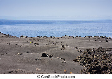 Volcanic landscape at La Palma, Canary islands, Spain