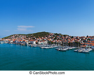 Port in Trogir at Croatia