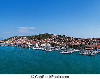 Port in Trogir at Croatia