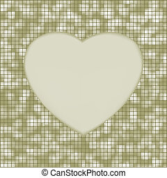 Elegant mosaic glowing heart background. EPS 8 vector file...