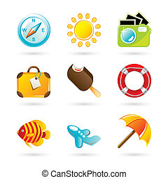 Travel Icon Set - Travel Icons on White Background