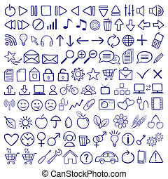 Icon Set - vector hand-drawn icon set