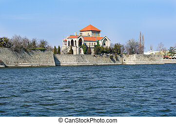 Castle of Tata with the lake