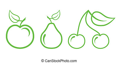 Green Nature Icons Part 2 - Fruit
