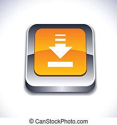Download 3d button - Download metallic 3d vibrant square...